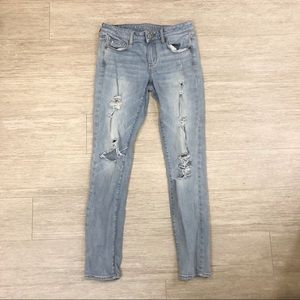 3/$23 American Eagle Distressed Skinny Jeans
